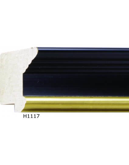 "2 1/8"" x 1 3/8"" Antique Black w/ Gold"