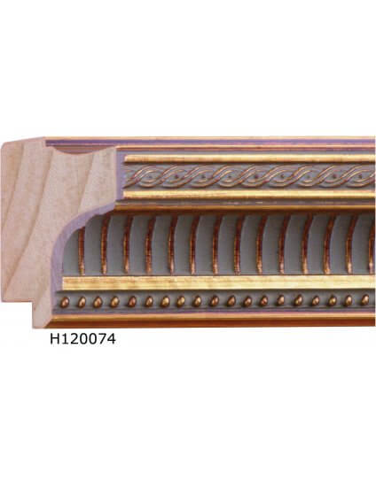 "2"" x 1 3/8"" Ribbed Gold - Discontinued: Call for Stock and Price"