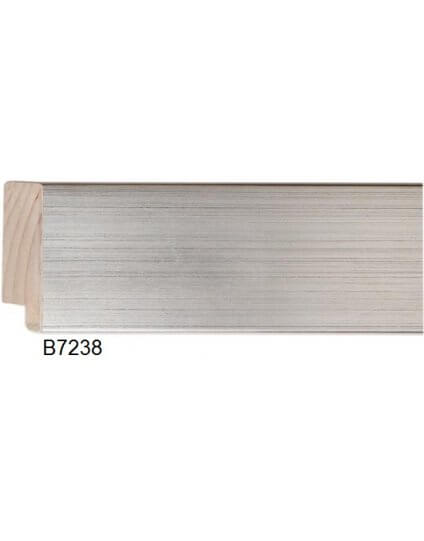 "2 3/8"" Silver Leaf Platinum"