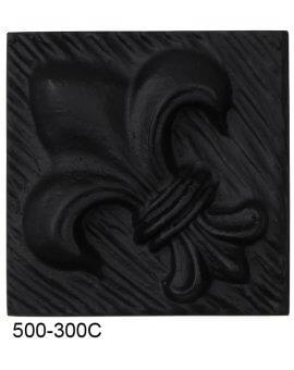 Fleur De Lis Compo Corner - BLACK