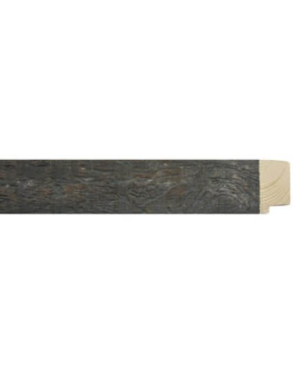 "1 3/4"" x 1 1/2"" Rustique Dark Grey"
