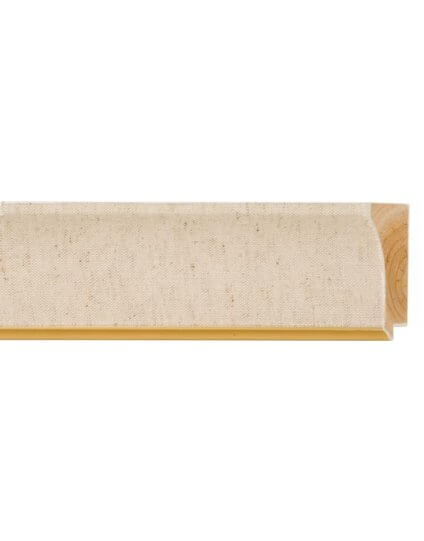 "2 1/2"" Scoop Natural Linen w/ Gold Lip - Discontinued: Call for Stock"