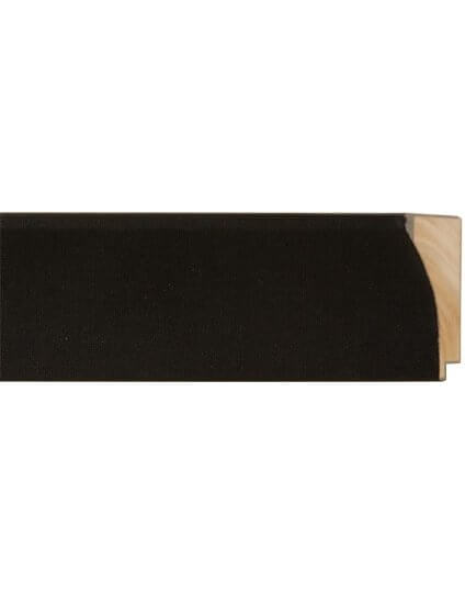 "2 1/2"" Black Scoop Linen Liner"