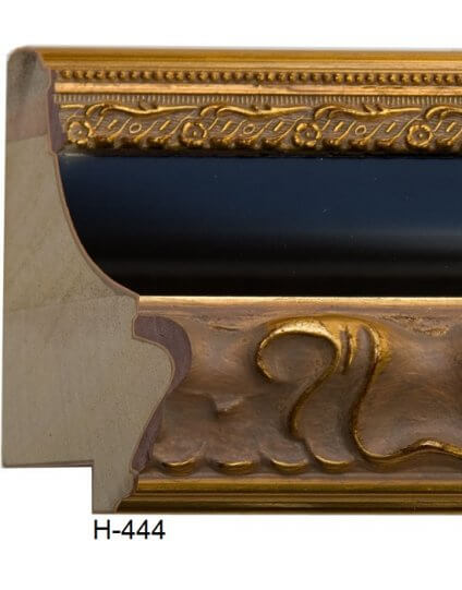 "4 1/4"" x 2 1/4"" Ornate Gold & Black"