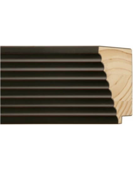"4"" BLACK FLUTED - Discontinued: Call for Stock"