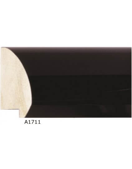 "2 1/2"" x 1"" Cove Black Lacquer - Discontinued: Call for Stock and Price"