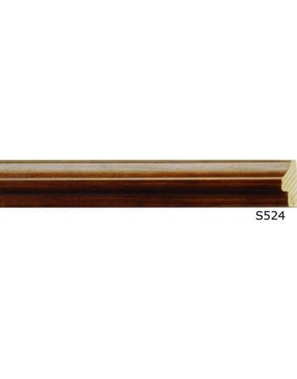"1/2"" Knotty Pine Dark Walnut Fillet - Discontinued: Call for Stock and Price"