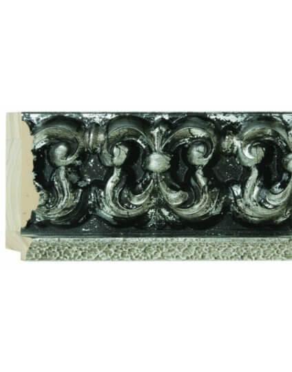"""4 1/2"""" Silver & Black Ornate Palazzo"""