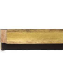 "1 3/4"" x 2"" Gold Luminoso Floater"