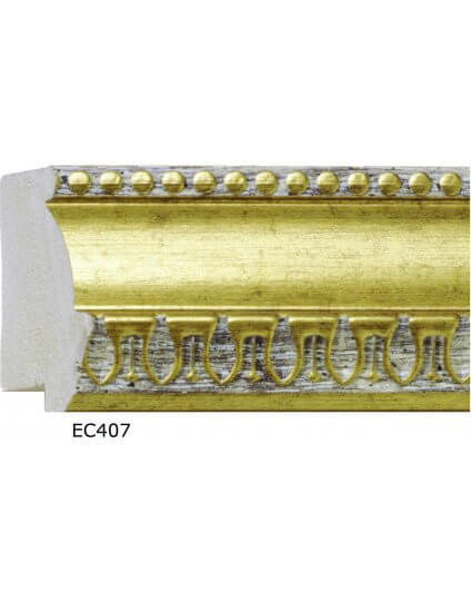 "2 1/4"" x 1"" Gold Ornate Poly"