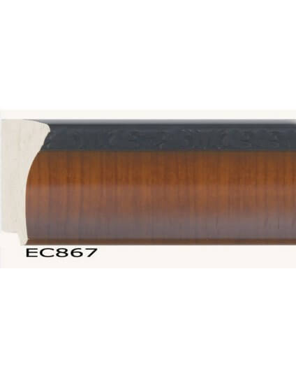 "3 1/8"" Faux walnut veneer with black compo edge"