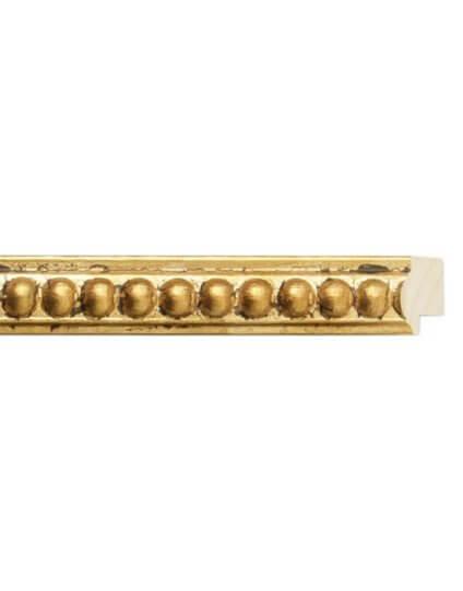 """1 1/4"""" Gold Beaded Bellissimo"""