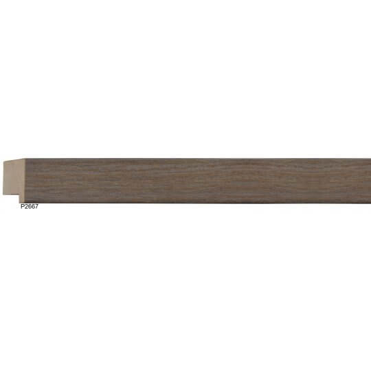 "1 1/4"" Edge Grey Oak Square"