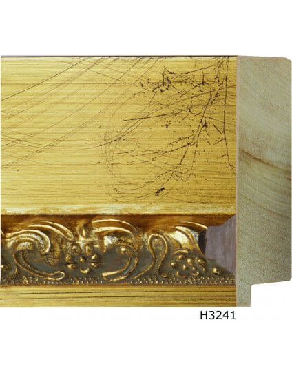"""4"""" x 1 1/2"""" Gold Leaf w/ Black Scratching - Discontinued: Call for Stock"""