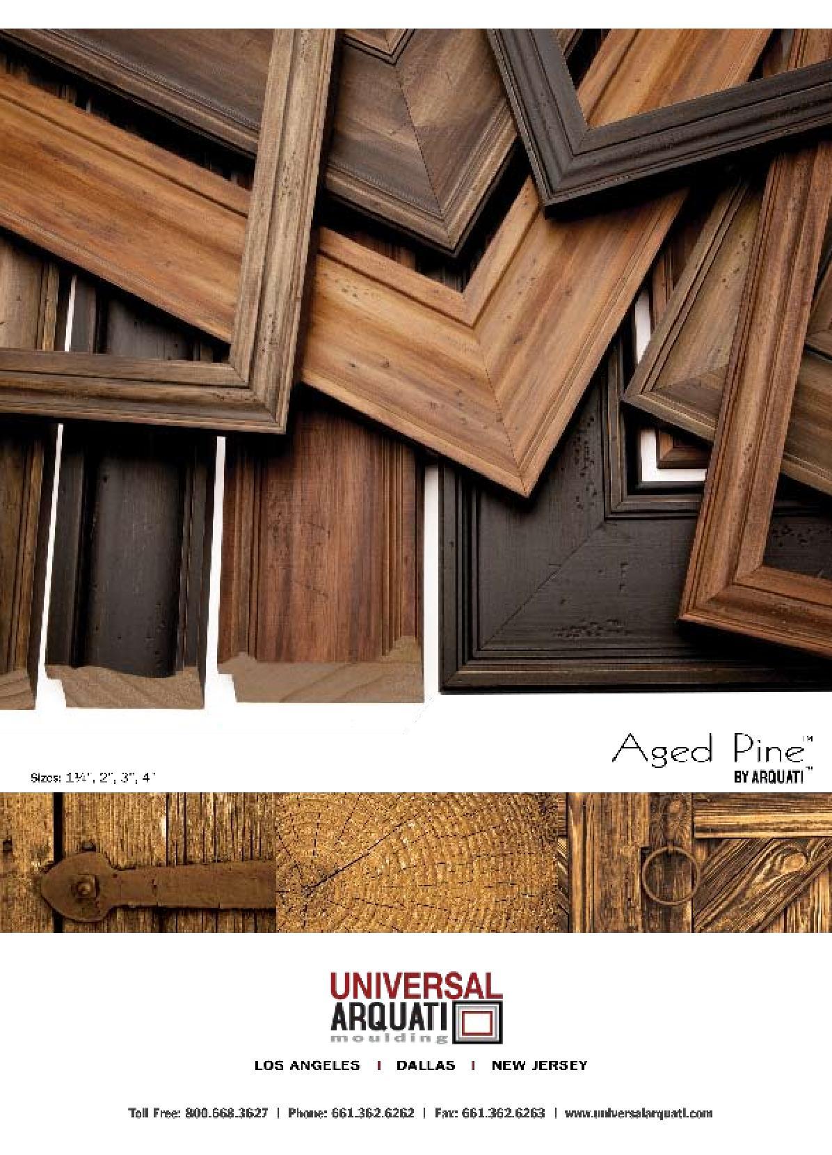 Agedpine flyer Picture Frame Moulding
