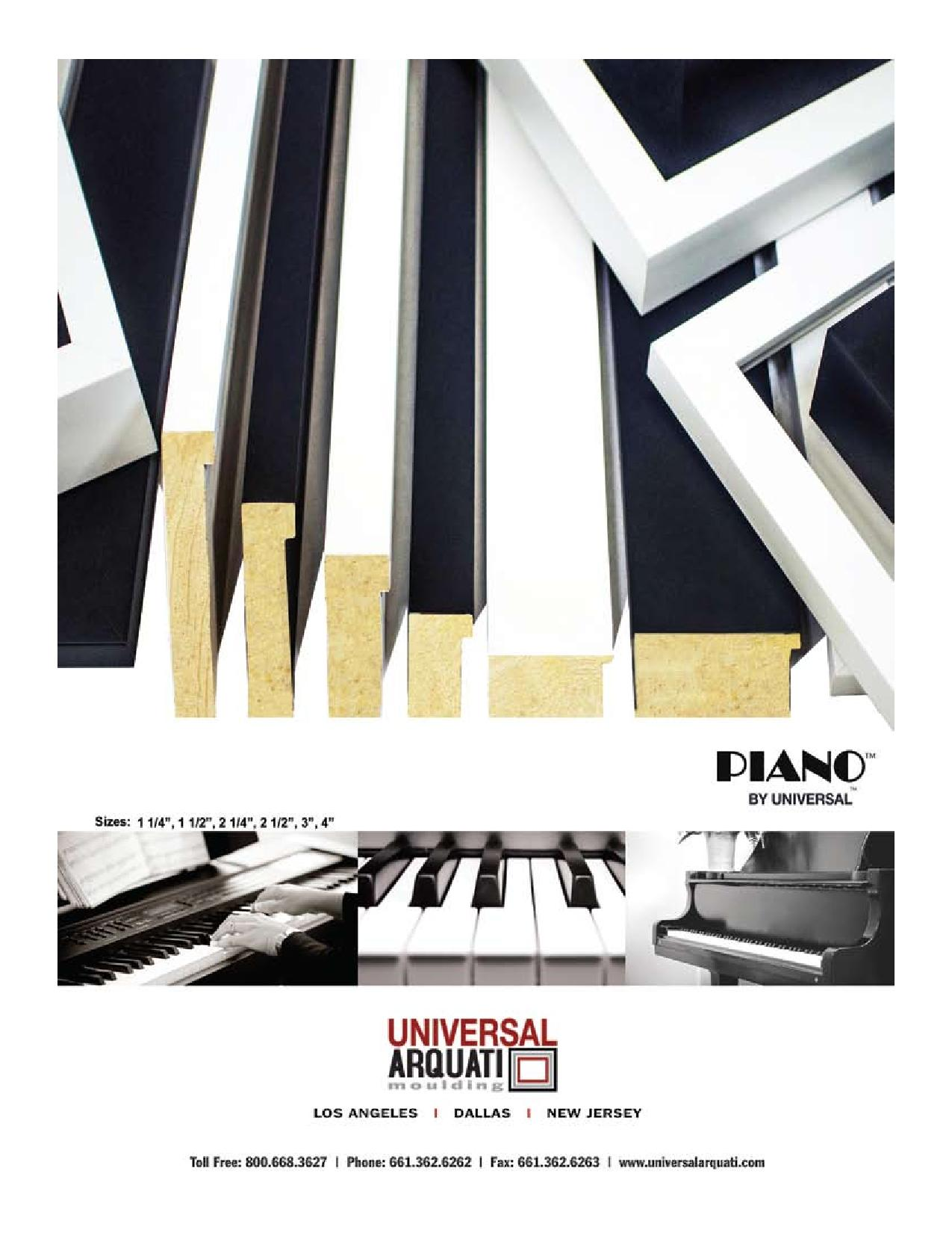 Piano Picture Frame Moulding