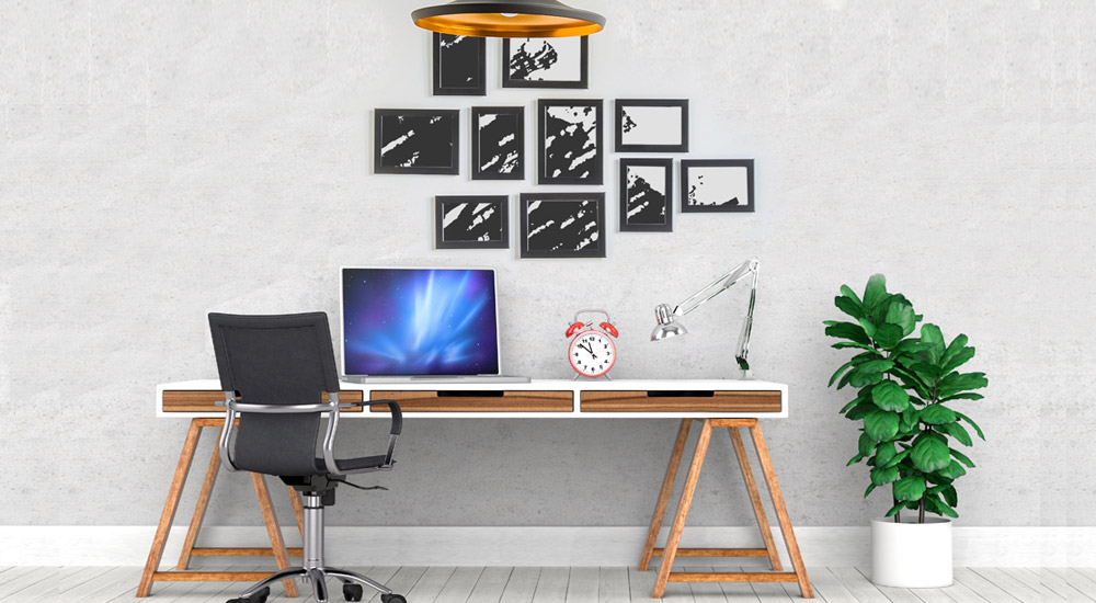 home office picture frame ideas